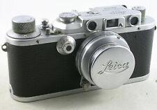 Vintage 1930's Leica IIIa w/SUMMAR 5cm/f2 Lens, Leica Lens cap and Case