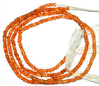 10 Strand Carnelian Faceted Beads Orange Carnelian Stone 3-4mm Faceted Rondelle Beads 12.5 Full Strand