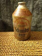 Vintage Very Rare 1933 Schmidt's Cone Top Beer Can Silver Noggin