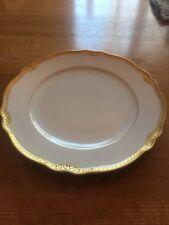 "Franconia Krautheim Selb Bavaria White Salad 7 1/2 "" Plate With Gold Trim"