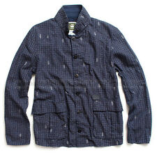 G-STAR RAW LIGHTWEIGHT BLAZER INDIGO COTTON OVERSHIRT JACKET  SIZE L /Large