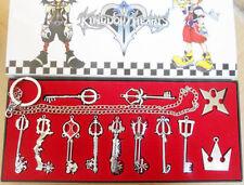 Set 12 pezzi collane Keyblade Kingdom Hearts Necklace Sora Roxas Final Fantasy