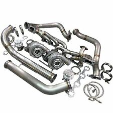 CXRacing Twin Turbo Kit For 79-93 Ford FoxBody Mustang 5.0L Dual T04E 700 HP