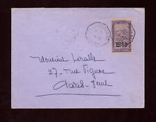 MADAGASCAR 1934 60 on 75c SOLO FRANKED COVER,TPO CANCEL