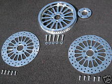 SUPER SPOKE PULLEY W/FRONT & REAR HARLEY ROTORS FLSTC HERITAGE SOFTAIL CLASSIC