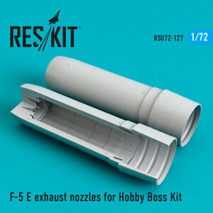 Reskit RSU72-0127 F-5 E exhaust nozzles for Hobby Boss model Kit 1/72 scale