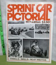 SPRINT CAR PICTORIAL Indiana program 1977 racing Pancho Carter USAC