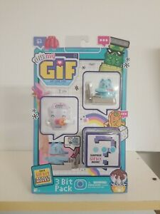 OH! My GIF 3 Bit Pack Surprise GIF Bit Inside Blue Cat Each GIF Bit Really Move