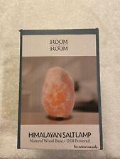 Himalayan Salt Lamp Natural Wood Base