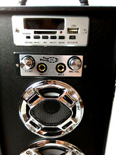 Altavoces Portátil Bluetooth Mando Micrófono Karaoke FM entrada SD USB TF TORRE