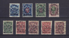 Batum British Occupation 1920, Mi 29/39, 9 Stamps, Forgeries (?)