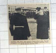 1939 Dr Tiso Raising His Hat Templehof Aerodrome Berlin, Hitler Meeting
