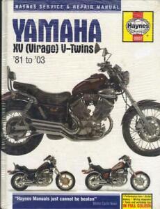"""YAMAHA XV535,S,SE,VIRAGO XV750,XV1000,XV1100,TR1 HAYNES MANUAL 1981-2003 """"NOS"""""""