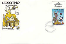 Lesotho 1985 Disney FDC  -( printed Border) The Wishing Table - DI 5370