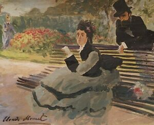 Claude Monet, painting, signed, origin known COA - , tempera color , Gogh  era