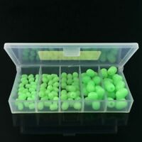 100pcs Oval Soft Luminous Fishing Beads Sea Fishing Lure Floating Float Tackle Z