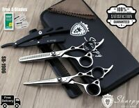 Professional Barber Hair Cutting Scissors Shears Thinning Kit/Hairdressing Salon