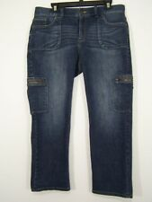 Vera Wang Simply Vera Womens Jeans Straight Leg Blue Size 14