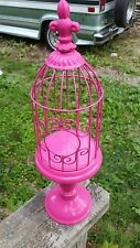 Pink Decorative Bird Cage