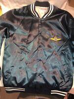 Vintage EASTERN AIRLINES Lightweight Satin Jacket - Hartwell USA - M - Navy