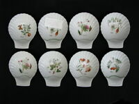 Set of 8 Louis Lourioux Le Faune Fire Proof Porcelain Shell Shaped Dishes France
