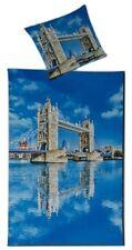 Villa Noblese Microfaser Fotodruck Bettwäsche Set London 135 x 200 cm