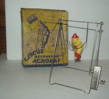 RARE VINTAGE WIND UP IRWIN MECHANICAL CIRCUS ACROBAT WITH BOX