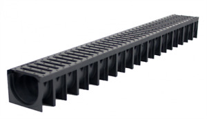 1m Drainage Channel Steel & Plastic, Corners, Outlet, Stopend FREE P&P OVER £30