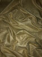 """1 MTR GOLD FLORAL JACQUARD DRESS FABRIC,CURTAINS,CUSHIONS,UPHOLSTERY 58"""" WIDE"""