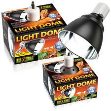 EXO TERRA LIGHT DOME ALUMINIUM UV REFLECTOR LAMP X2 UVB REPTILE LIGHT HOLDER