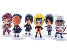 set 6 Pcs Pvc Doll Figures Action Car Ornaments Naruto Anime Sasuke Gaara