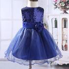 Flower Girl Tutu Dress Kids Sequins Princess Party Wedding Bridesmaid Gown Dress