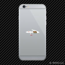California Fly Fishing Cell Phone Sticker Mobile CA fish lure tackle flies
