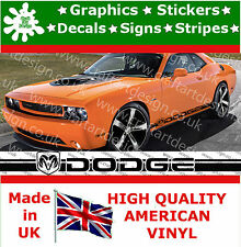 Dodge voiture logo racing stripes signes grand côté autocollant vinyle voiture de course sport 36