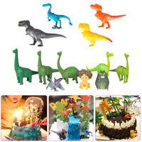 12PCS Dinosaur Figure Toys Cake Topper Kids Boys Birthday Fondant Baking Decor