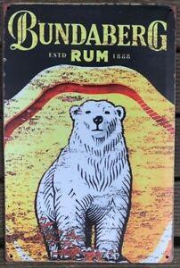 BUNDABURG Rustic Look Vintage Tin Metal Sign Man Cave, Shed-Garage & Bar Sign