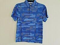 Alfani Mens Blue Pattern Short Sleeve Polo Shirt NWT