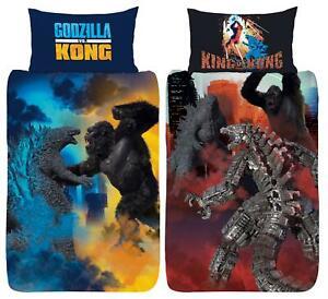 Godzilla Vs Kong Single Duvet Cover Battle Royale Official Reversible Bedding