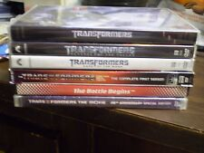 (8) Transformers DVD Lot: Transformers 1, 2 & 3 + Animated 1st Season & MORE