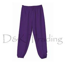 Unisex Men Women Pockets Fleece Sweatpants Workout Gym Pants Elastic Waist S-5XL