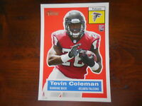 2015 Topps Heritage Football 5X7 RC Rookie Tevin Coleman Falcons #/99