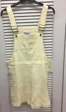 Pale Yellow NWT REal Comfort LINEN OVERALL SHORTS Size Medium