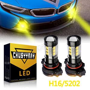 100w 5202 LED Fog Light Bulbs For GMC Sierra 1500 2007-2015 Yukon XL 2007-2013