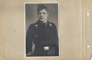 Foto Portrait Panzer-Fahrer  weitere Fotos + Ak Böblingen Feldpost