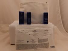 GUERLAIN WHITE COSMETIC BAG AND 3 DELUXE SKIN CARE ITMES
