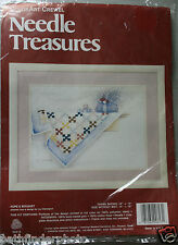 """Hope's Bouquet"" COLORART CREWEL NEEDLE TREASURES CREWEL KIT UNOPENED"