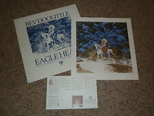 BEV DOOLITTLE Brand new EAGLE HEART hand signed and numbered