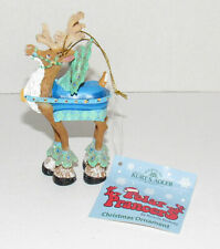 Kurt Adler Polar Prancers Peacock Reindeer Christmas Ornament Ronnie Rooney