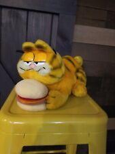 Vintage Garfield With Burger Plush, 1981 Dakin