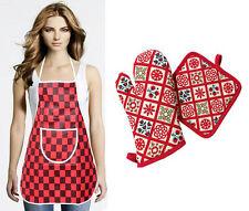 3 Pcs Kitchen Set - Apron Gloves & Pot Holder (Assorted Design & Color)